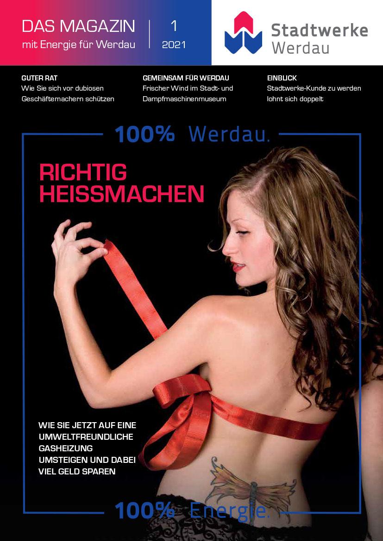 Titelbild Kundenmagazin der Stadtwerke Werdau GmbH Ausgabe 1/2021